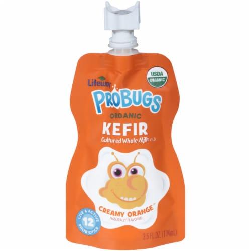 Lifeway Probugs Organic Creamy Orange Kefir Perspective: front