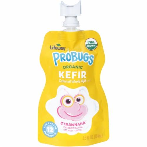 Lifeway Probugs Organic Strawnana Kefir Perspective: front