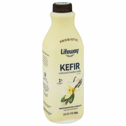 Lifeway Low Fat Vanilla Kefir Perspective: front