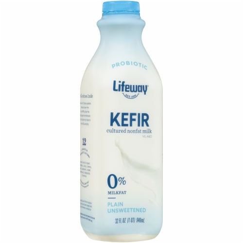 Lifeway Plain Non-Fat Kefir Cultured Milk Perspective: front