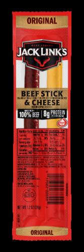 Jack Links Original Beef & Cheese Sticks Perspective: front