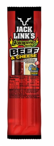 Jack Link's Jalapeno Sizzle Beef & Cheese Snack Perspective: front