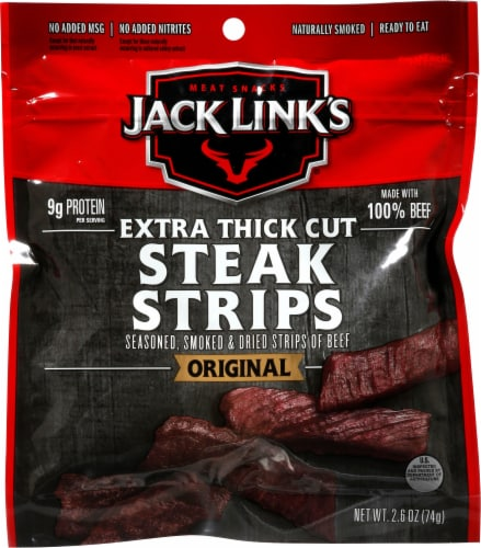 Jack Link's Original Premium Beef Steak Strips Perspective: front