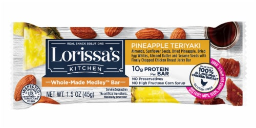 Lorissa's Kitchen Pineapple Teriyaki Whole-Made Medley Snack Bar Perspective: front