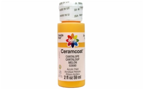Delta Ceramcoat Acrylic 2oz Cantalope Perspective: front