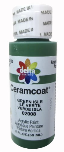 Delta Creative Ceramcoat Acrylic Paint - Green Isle Perspective: front