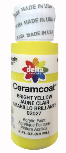 Delta Creative Ceramcoat Acrylic Paint - Bright Yellow Perspective: front