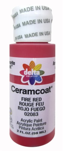 Delta Creative Ceramcoat Acrylic Paint - Fire Red Perspective: front