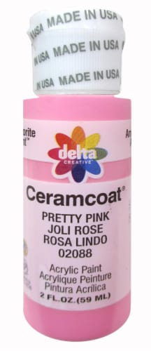 Delta Creative Ceramcoat Acrylic Paint - Pretty Pink Perspective: front