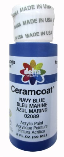 Delta Creative Ceramcoat Acrylic Paint - Navy Blue Perspective: front