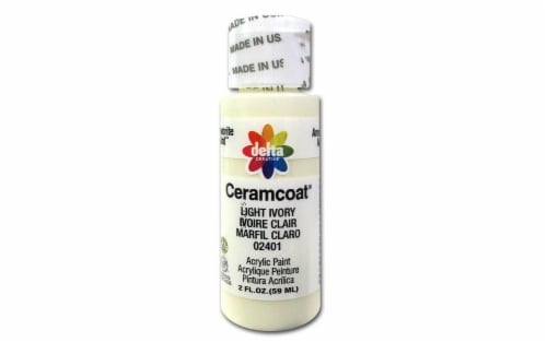 Delta Ceramcoat Acrylic Paint - Light Ivory Perspective: front