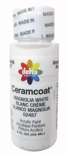 Delta Creative Ceramcoat Acrylic Paint - Magnolia White Perspective: front