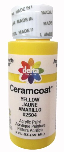 Delta Creative Ceramcoat Acrylic Paint - Yellow Perspective: front