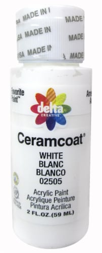 Delta Creative Ceramcoat Acrylic Paint - White Perspective: front
