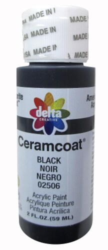 Delta Creative Ceramcoat Acrylic Paint - Black Perspective: front