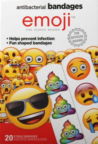 Emoji Shapes Antibacterial Bandages Perspective: front