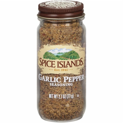 Spice Islands Garlic Pepper Seasoning Perspective: front