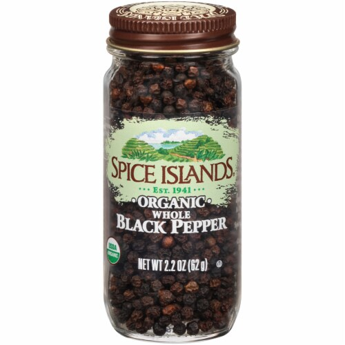 Spice Islands Organic Whole Black Pepper Perspective: front