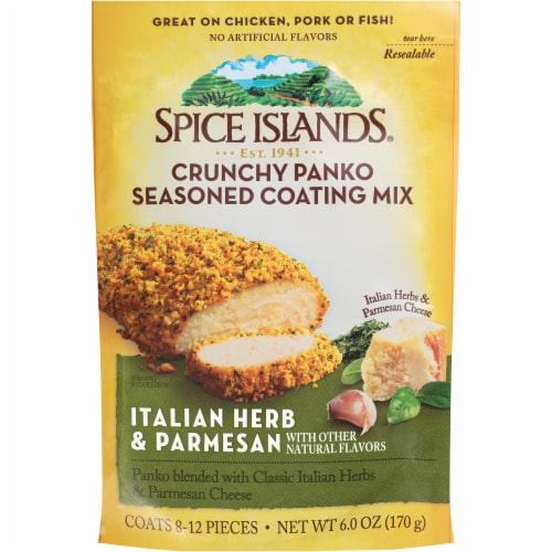 Spice Islands Italian Herb & Parmesan Crunchy Panko Seasoned Coating Mix Perspective: front