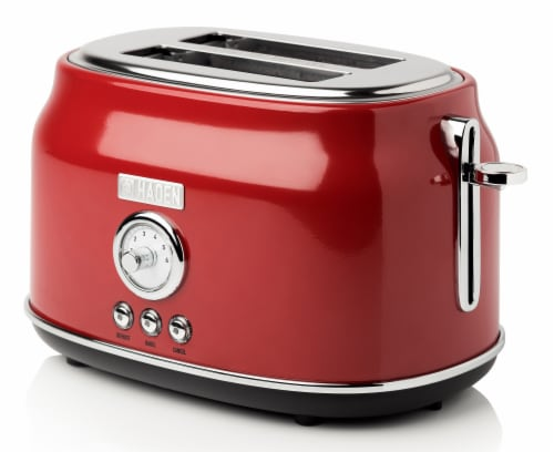 Haden Dorset Stainless Steel 2-Slice Toaster - Red Perspective: front