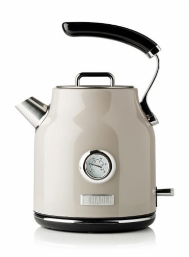 Haden Dorset Stainless Steel Cordless Electric Kettle - Putty Perspective: front