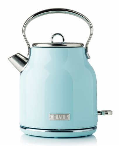 Haden Heritage Stainless Steel Cordless Electric Kettle - Turquoise Perspective: front