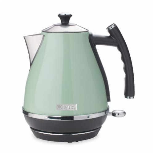 Haden Cotswold Stainless Steel Cordless Electric Kettle - Sage Green Perspective: front