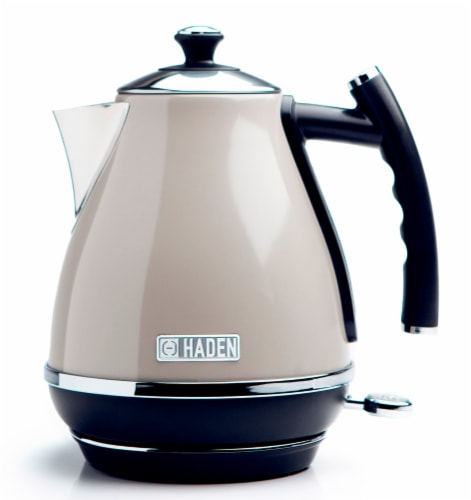Haden Cotswold Stainless Steel Cordless Electric Kettle - Putty Perspective: front