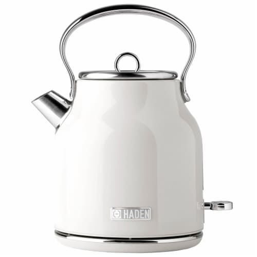 Haden Heritage Stainless Steel Cordless Electric Kettle - Ivory White Perspective: front