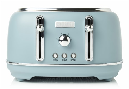 Haden Highclere 4-Slice Wide Slot Toaster - Poole Blue Perspective: front