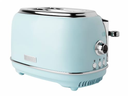 Haden Heritage 2-Slice Wide Slot Toaster - Turquoise Perspective: front
