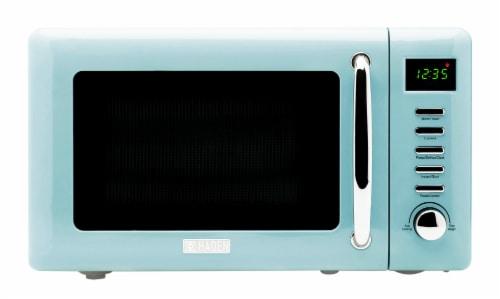 Haden Heritage 700-Watt Microwave - Turquoise Perspective: front