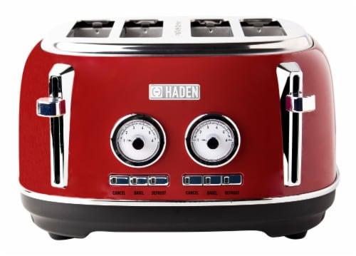 Haden Dorset 4-Slice Toaster - Red Perspective: front
