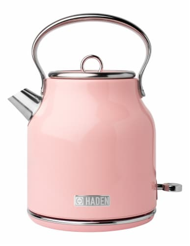 Haden Heritage Stainless Steel Electric Kettle - English Rose Perspective: front