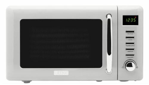 Haden Heritage 700-Watt Microwave - Ivory White Perspective: front