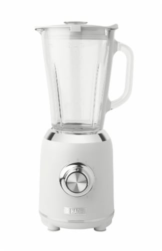 Haden Heritage 5-Speed Retro Blender with Glass Jar - Ivory White Perspective: front