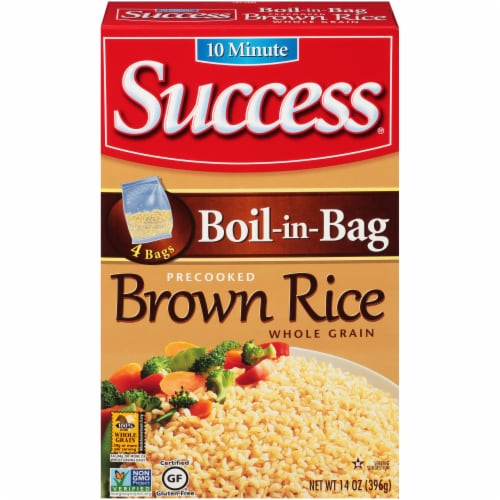 Success Boil in Bag Whole Grain Brown Rice Perspective: front
