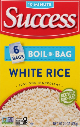 Success Boil-in-Bag Precooked White Rice Perspective: front