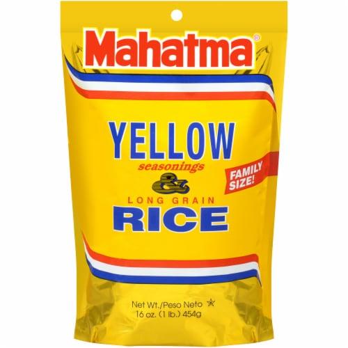 Mahatma Saffron Yellow Seasonings & Long Grain Rice Perspective: front