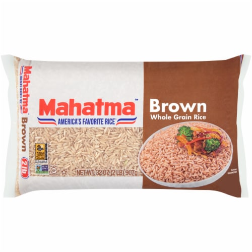 Mahatma Whole Grain Brown Rice Perspective: front