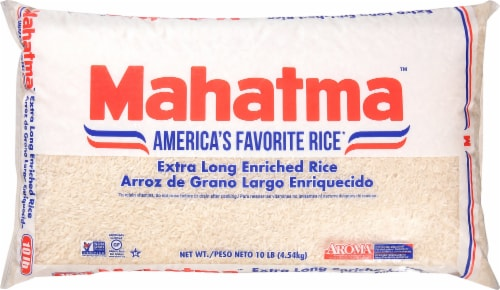Mahatma Extra Long Grain Enriched Rice Perspective: front