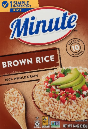 Minute 100% Whole Grain Instant Brown Rice Perspective: front