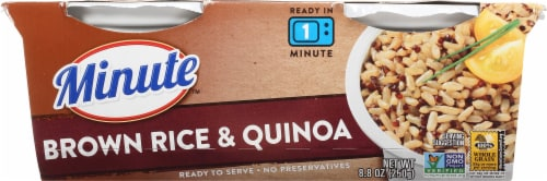 Minute Ready to Serve Brown Rice & Quinoa Cups 2 Count Perspective: front