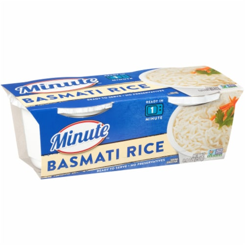 Minute Ready to Serve Basmati Rice Cups 2 Count Perspective: front