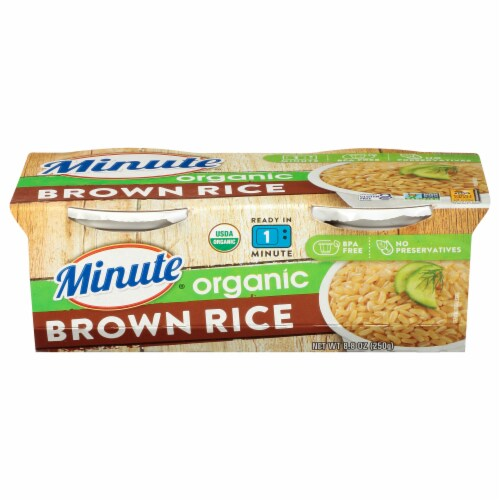 Minute Ready to Serve Organic Brown Rice Cups Perspective: front
