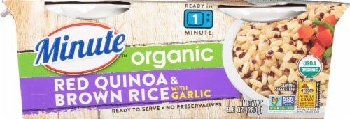 Minute Ready to Serve Organic Red Quinoa & Brown Rice with Garlic Perspective: front