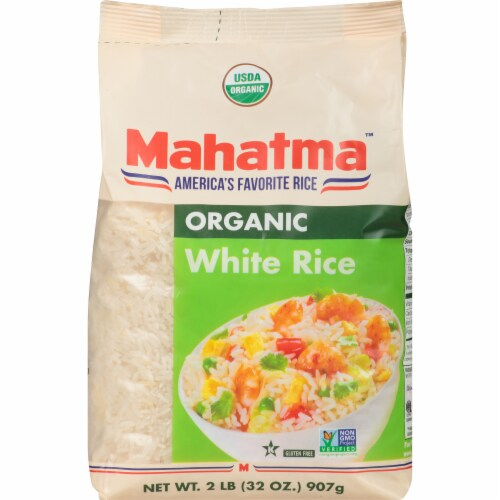 Mahatma Organic White Rice Perspective: front