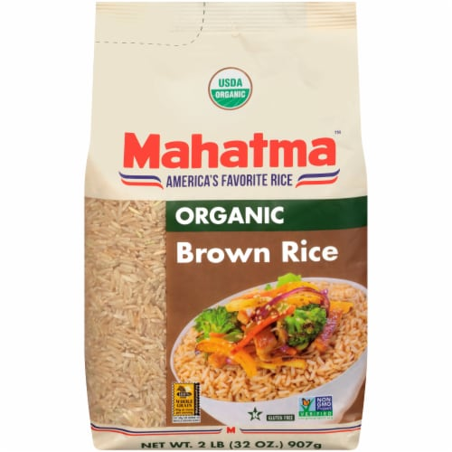 Mahatma Organic Brown Rice Perspective: front
