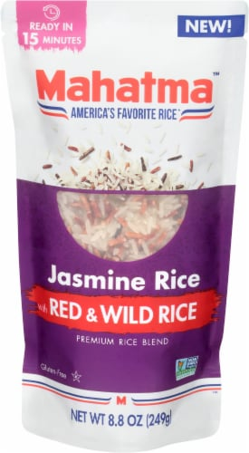 Mahatma Jasmine Rice with Red & Wild Rice Perspective: front