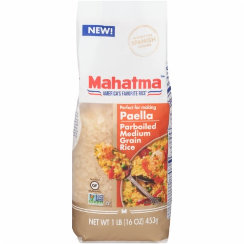 Mahatma Parboiled Medium Grain Rice Perspective: front